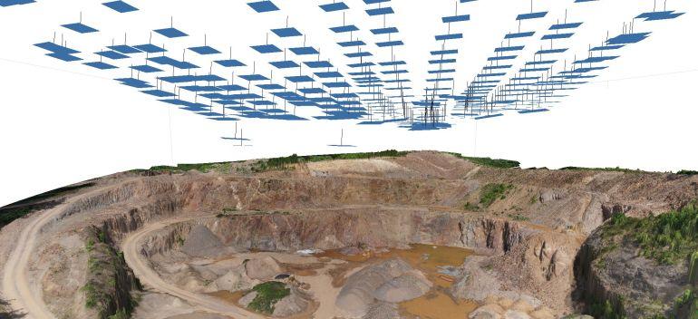 ein 3D Modell aus Bildern einer Drohne