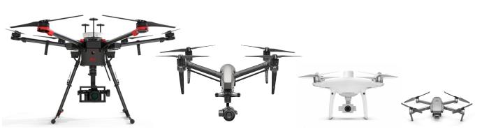 Vergleich Drohnen für Vermessung