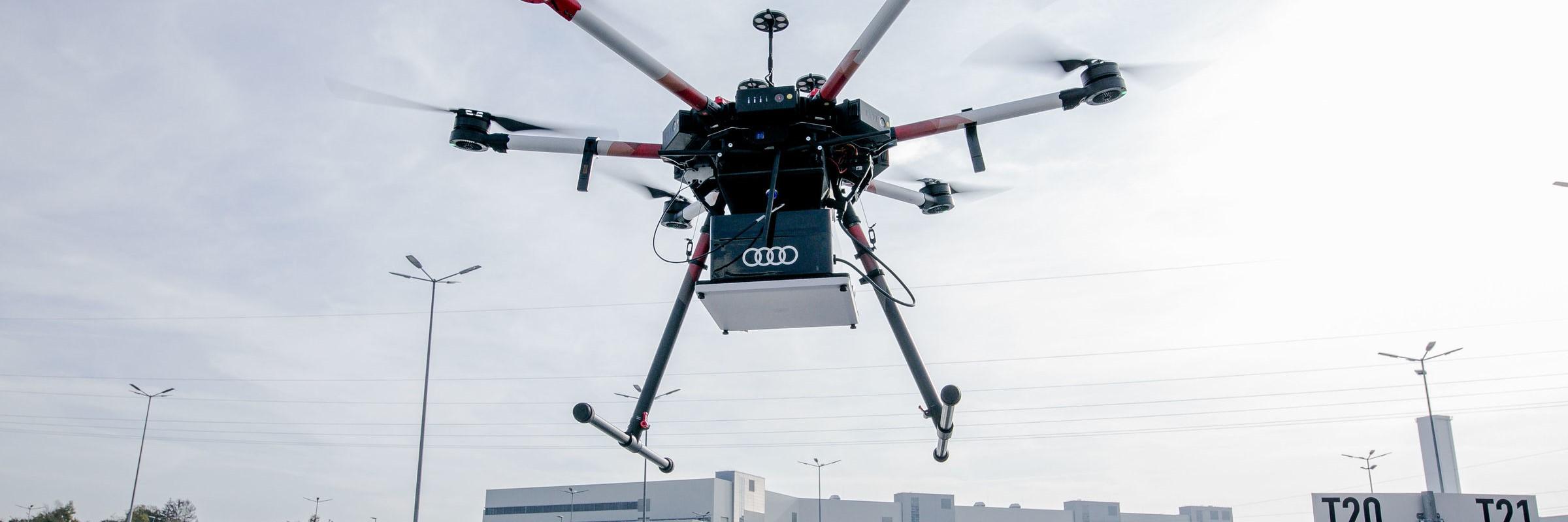 Audi setzt auf RFID-Drohnen